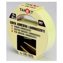 Cinta Adh 25mmx 10mt Señalizacion Luminiscente Pet Target