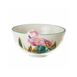 Bol Coc Diseño 12,20 X 12,20 X 7,20 Cm Flamingo Porcel Unima