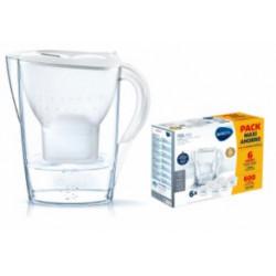 Jarra Agua Purif. 2,4lt +6 Filtros Marella Blanca Brita 0