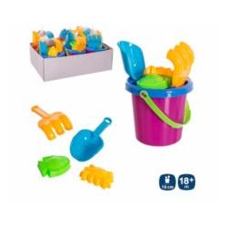 Juguete Infantil Playa Juinsa Pl Cubo Pala Rastrillo Moldes