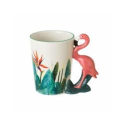 Tazon Desayuno Diseño 13,80 X 8,70 X 11,80 Cm Flamingo Porce