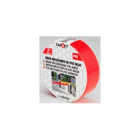 Cinta Adh 50mmx33mt Señalizacion Target Pvc Ro Reflectante C