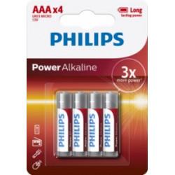 Pila Alcalina 1,5v Lr03 Aaa Philips Powerlife Aa - Lr03p4b/0