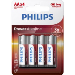 Pila Alcalina 1,5v Lr06 Aa Philips Powerlife Aaa - Lr6p4b/05