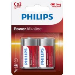 Pila Alcalina 1,5v Lr14 Philips Powerlife C C - Lr14p2b/05 2