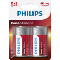 Pila Alcalina 1,5v Lr20 Philips Powerlife D D - Lr20p2b/05 2
