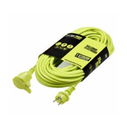 Prolongador 3x1,5mm 10mt  3680v 230v Ip44 Jardin Ver Masterp