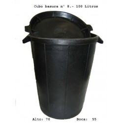 Cubo Basura Goma Fiel S/tapa De 100 L Unidad