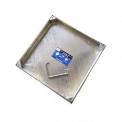 Tapa Fontan 50x50cm Hermetica Rellenable Acero Galv B-125 Da