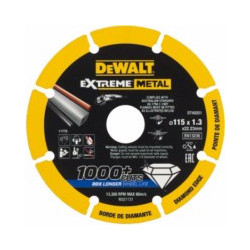 Disco Corte Metal Segment 115x1,3x22,23mm Diam Extreme Dewal