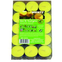 Vela Jard 3,8x1,1cm Citron. Monty Ama 82270 15 Pz