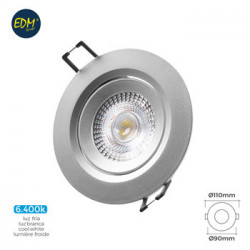Foco Downlight Rdo 5w 380lm 6400k Ø7,4x11x9cm Pl Cr Emp Led