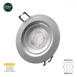 Foco Downlight Rdo 5w 380lm 3200k Ø7,4x11x9cm Pl Cr Emp Led